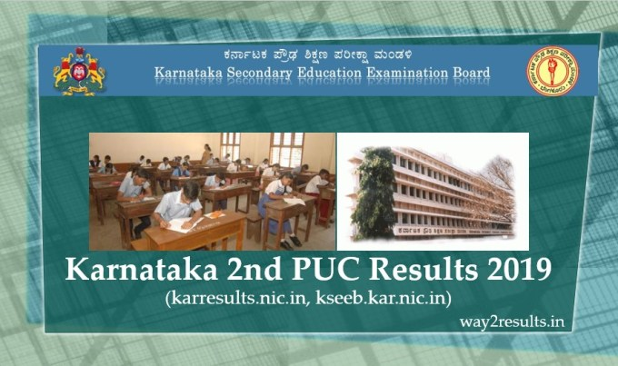 Karnataka 2nd PUC Results 2019 at karresults.nic.in