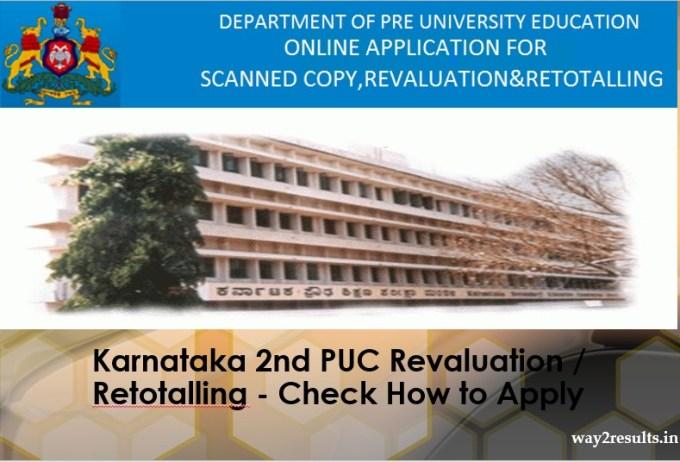 Karnataka 2nd PUC Revaluation Retotalling - Check How to Apply