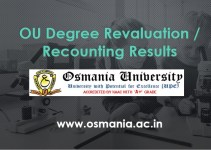 OU Degree Revaluation Recounting Results - osmania.ac.in