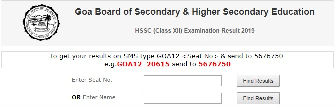 Steps to Check GBSHSE 12th Result Name Wise 2019