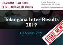 TS Inter Results 2019 on 08th April is a Fake News