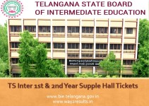 TS Inter 1st & 2nd Year Supple Hall Tickets Download