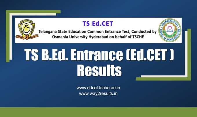 TS EDCET Entrance Exam Results - Download Rank Card