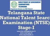 Telangana NTSE Notification - Apply Online