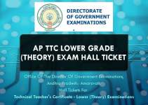 AP TTC Lower Grade (Theory) Exam Hall Ticket Download