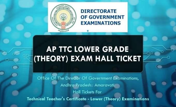 AP TTC Lower Grade (Theory) Exam Hall Ticket Download