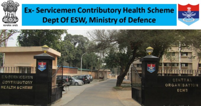 ECHS Medical Recruitment 2019 for 100 Various Posts