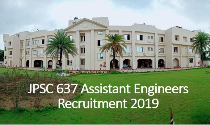 JPSC 637 Assistant Engineers Recruitment 2019