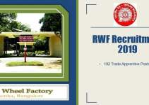 RWF Trade Apprentice Recruitment 2019