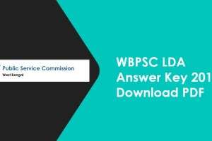 WBPSC LDA Answer Key 2019