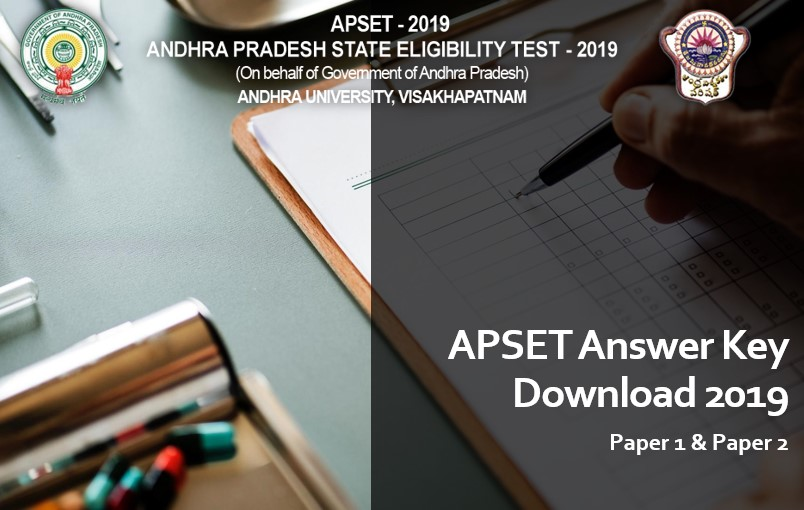 APSET Paper 1 & Paper 2 Answer Key Download 2019