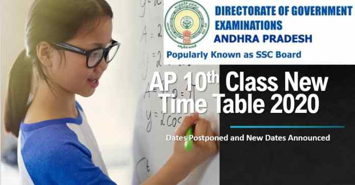 AP 10th Class New Time Table 2020 (Revised Dates Out)