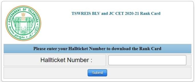 TSWREIS JC CET Results 2020
