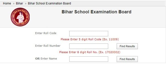 Download BSEB 10th Result With Name