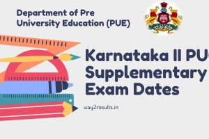 Karnataka 2nd PUC Supplementary Time Table