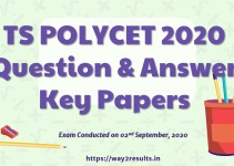 TS POLYCET 2020 Question and Answer Key Papers Download