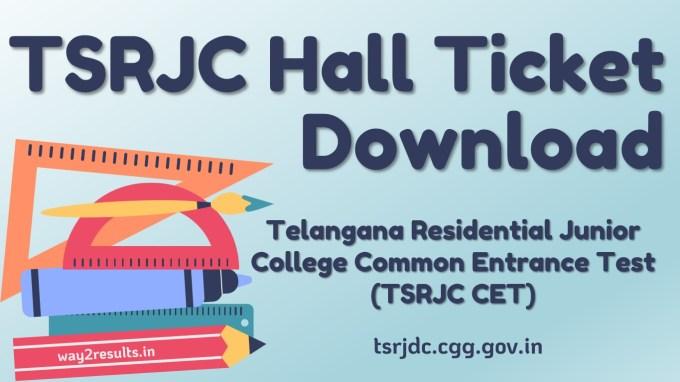 TSRJC Hall Ticket Download