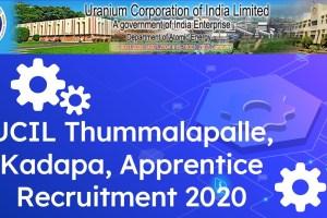 UCIL Kadapa Trade Apprentices Notification 2020