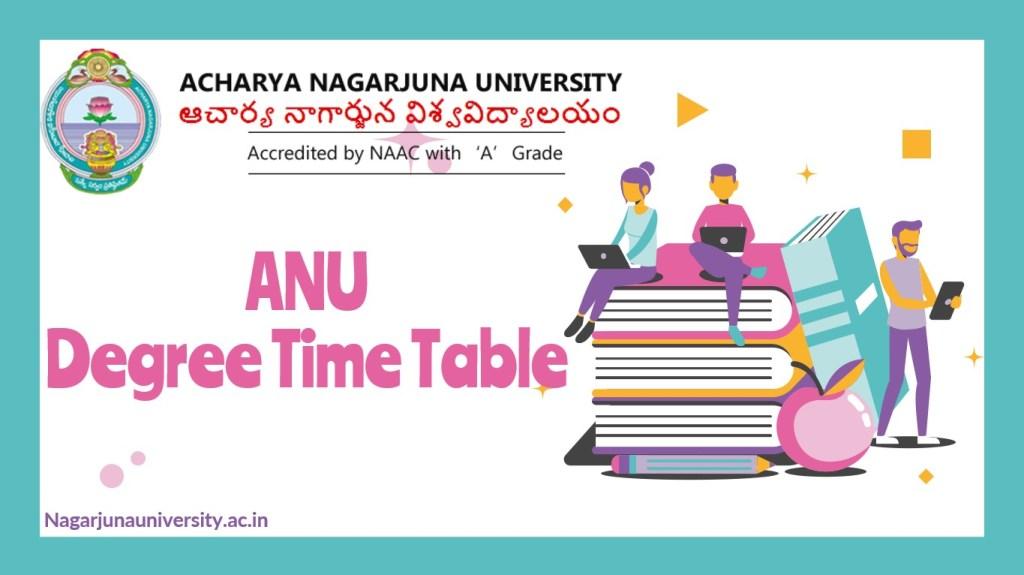 ANU Degree Time Table
