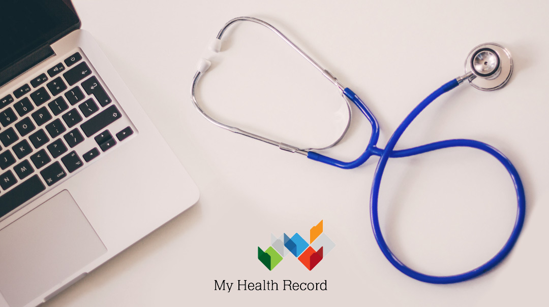 Computer and Stethoscope for My health Record