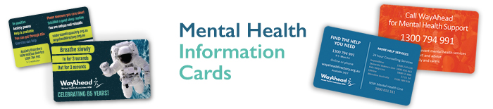 Mental health information cards