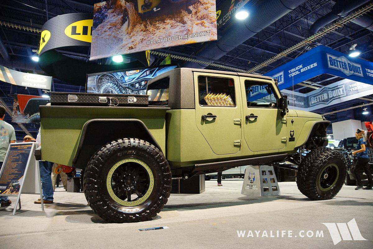 2016 SEMA Line X JK Crew Bruiser Conversions Jeep