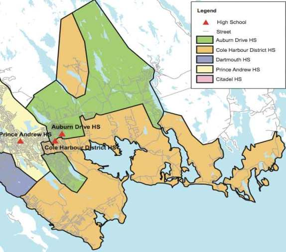 Cole Harbour, Auburn and Prince Andrew school districts.