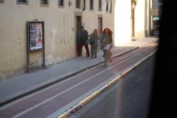 Two Way Bike Lane in Florence, Tuscany, IT