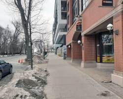 South Park sidewalk reopened