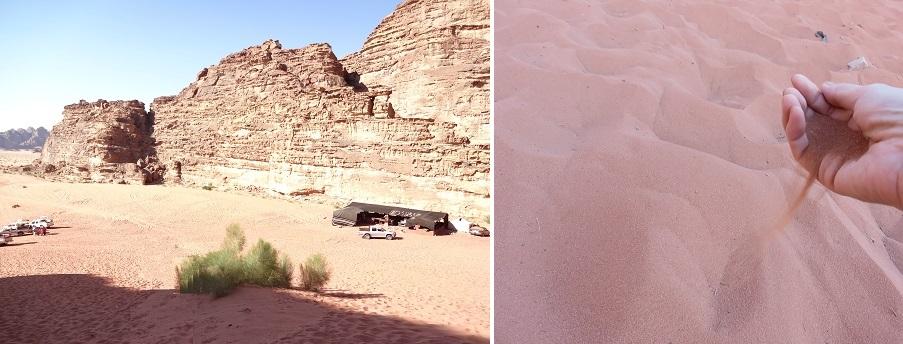 ヨルダン・ワディラムの砂
