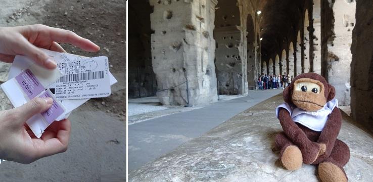イタリアローマのコロッセオ地下ツアーの集合場所