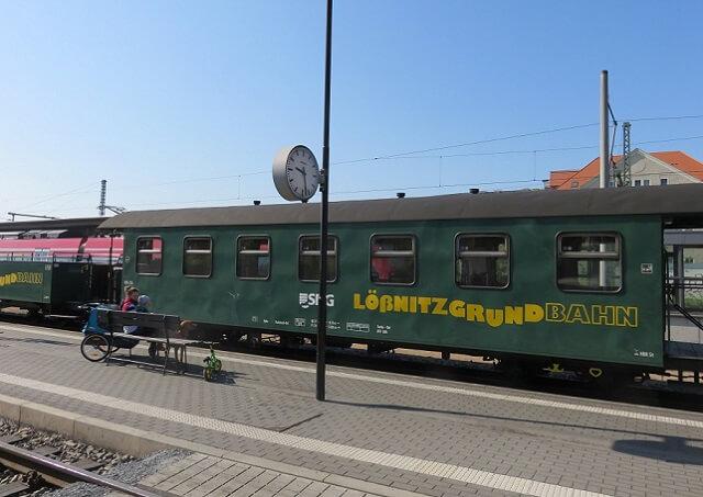 ドレスデンの蒸気機関車の車両