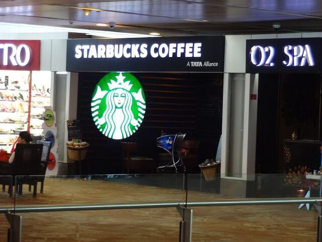 デリー空港のスターバックス