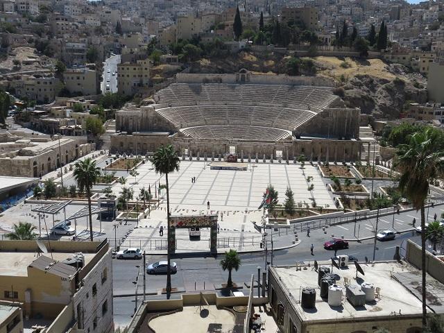 ヨルダンのアンマンにあるローマ劇場