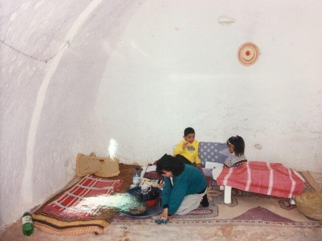 チュニジアのマトマタの家の中