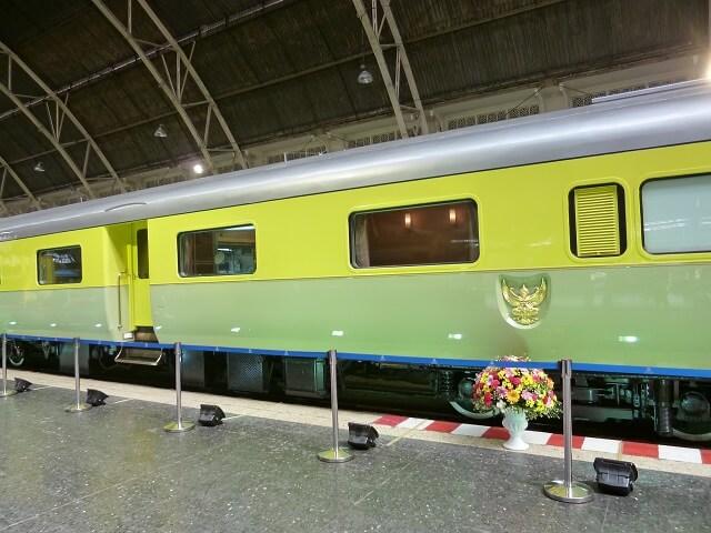 バンコクのフアランポーン駅に停まっていた王族専用電車