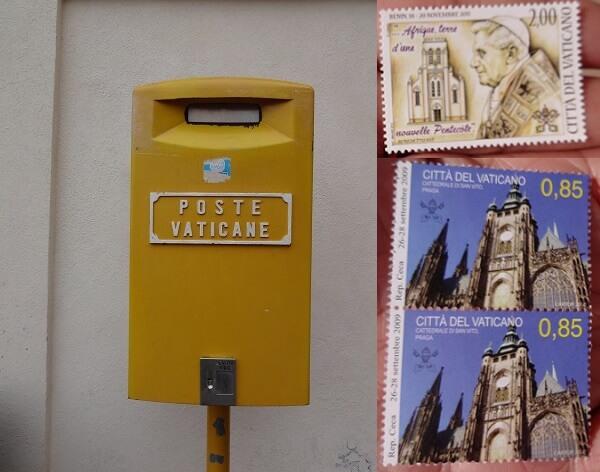 ローマ・バチカン市国のポストと切手