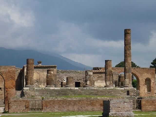 イタリア・ナポリのポンペイの遺跡