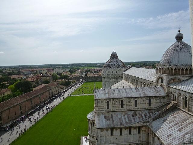 イタリア・ピサの斜塔の展望台からの眺め