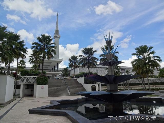 マレーシア・クアラルンプールの国立モスク