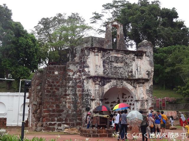 マレーシア・マラッカのサンチャゴ砦