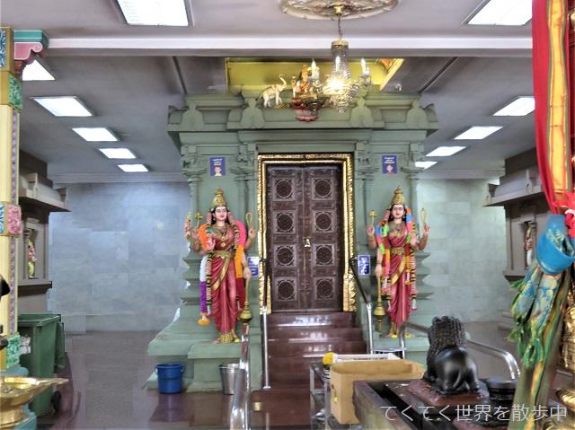 マレーシア・クアラルンプールのチャイナタウンにあるヒンドゥー寺院