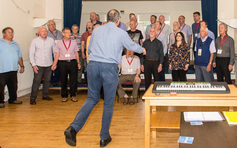 Wayfarers chorus final rehearsal before the concert