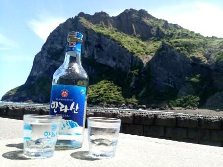 Soju in front of Sunrise peak