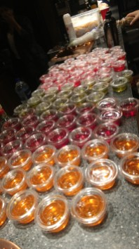 One of Mika's friends made an armys worth of jello shots