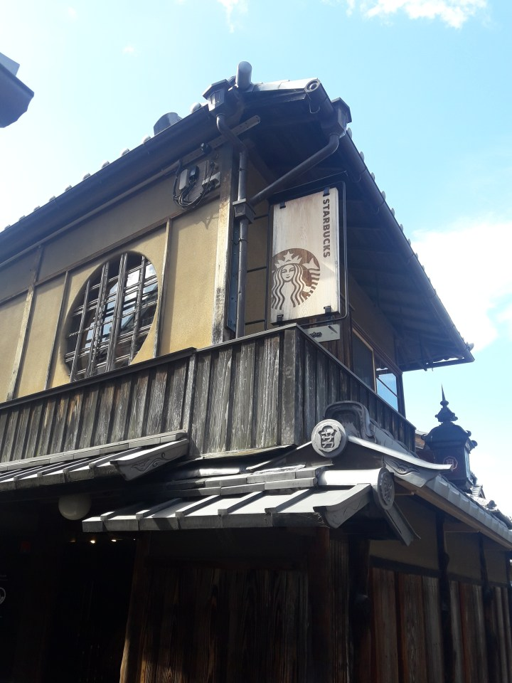 "Kyoto misadventures- 100 year old ""traditional tea house"" Starbucks"