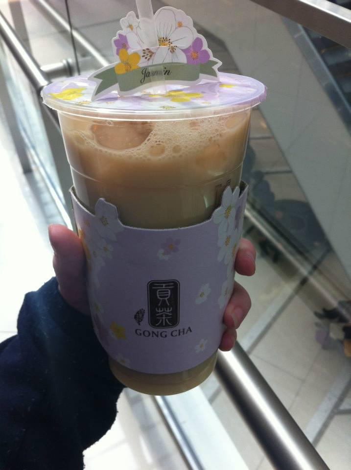 Winter melon milk tea, love Gong Cha