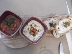 Appetizers at Sokak Restaurant