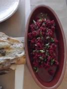 Beetroot kisir bulgur wheat salad