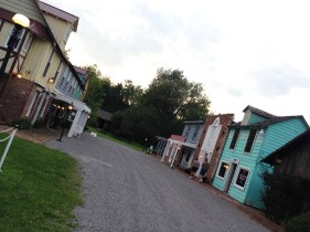 Right outside the theater, a Main Street museum has been assembled